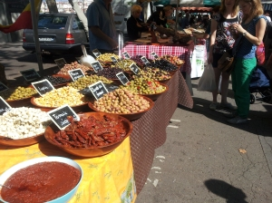 Olives in the Farmers' Market